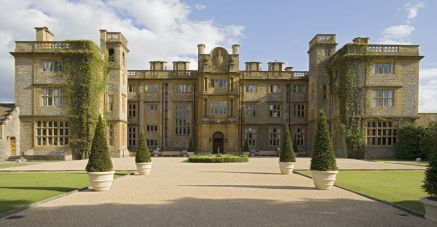 The main entrance at eynsham hall hotel