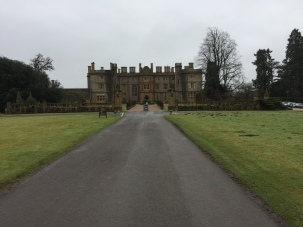 The main driveway at eynsham hall hotel