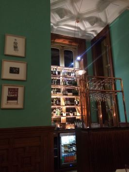 The restaurant bar at eynsham hall hotel