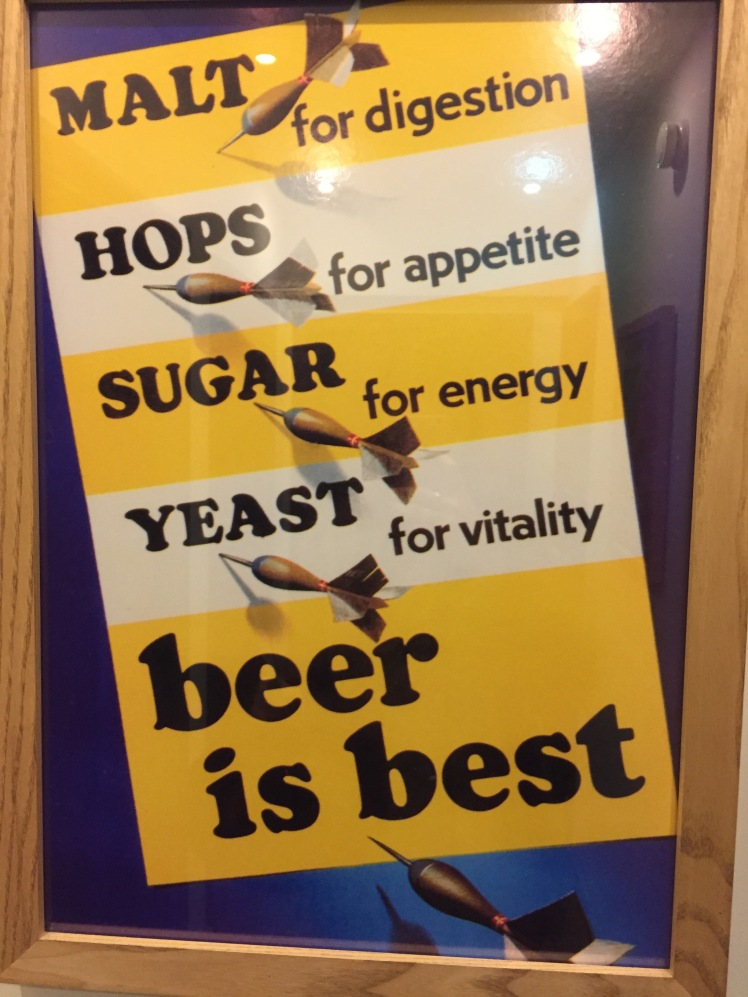 Malt for digestion hops for appetite sugar for energy yeast for vitality, beer is best sign