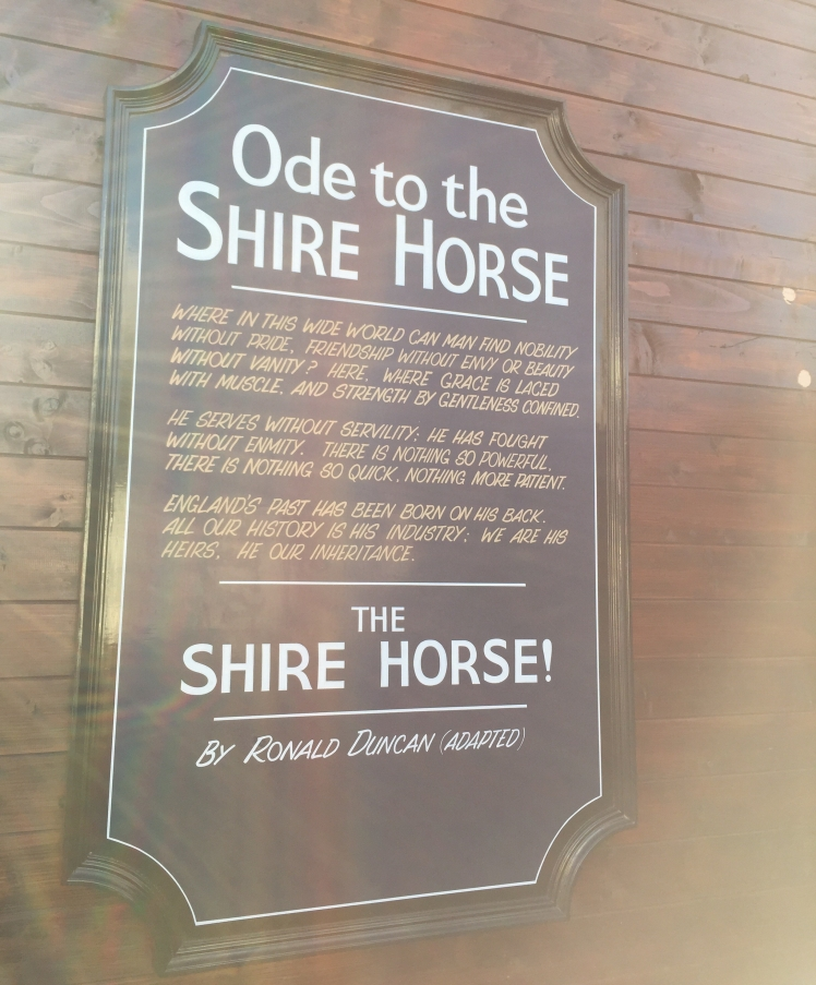 Wadworth shire horse sign