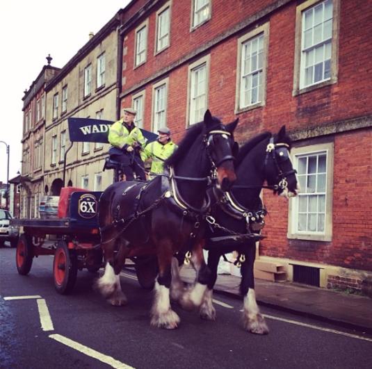 Wadsworth horses delivering beer in Devizes
